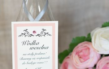 zawieszka na alkohole ślubne