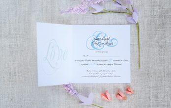nowoczesne zaproszenie ślubne