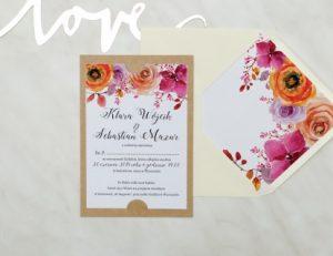 piękne zaproszenie z okazji ślubu